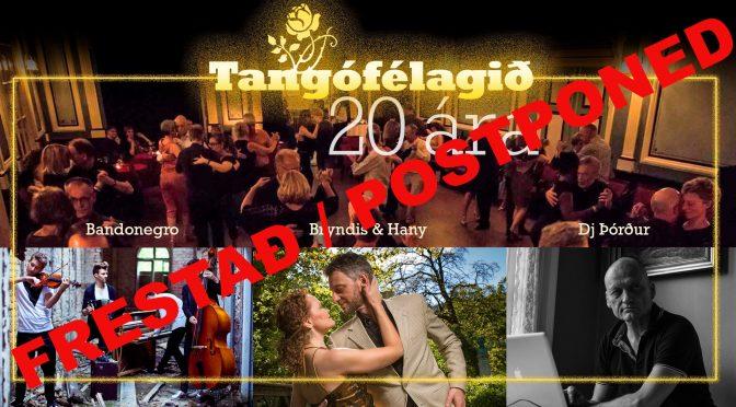 20 ára afmælishátíð 29. ágúst / Celebrating 20 years of the Club — FRESTAÐ/POSTPONED